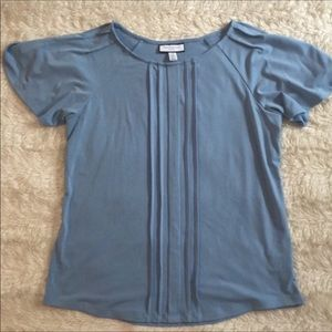 Charter club pretty light blue blouse Sz PM